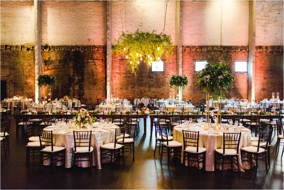 Hanging Greenery And Lighting Transformed The Industrial And Dark