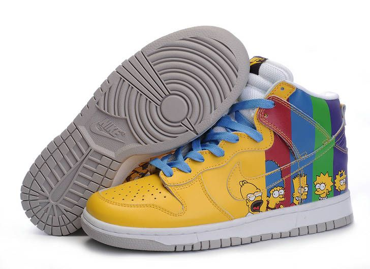 Best Price Mens Nike Dunk High Top Shoes Yellow Simpson Family, Price: -  Air Jordan Shoes, New Jordan Shoes, Michael Jordan Shoes
