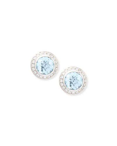 Frederic Sage White Topaz & Diamond Stud Earrings Z5zkQ2j
