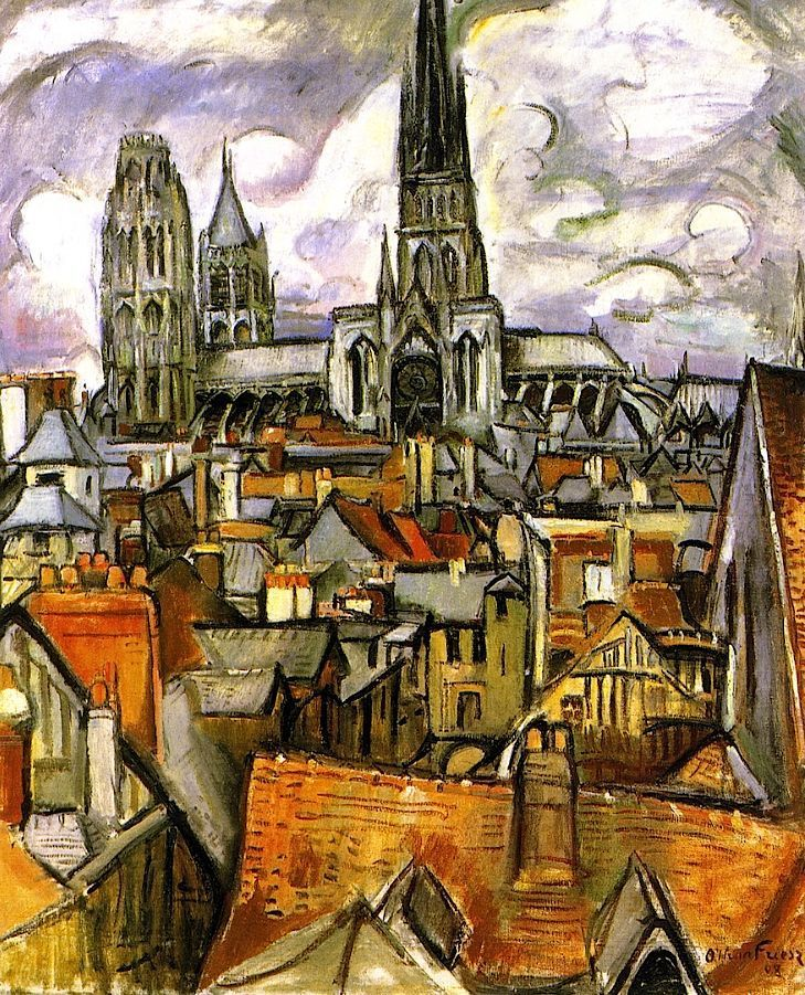 Othon Friesz Roofs And The Cathedral Of Rouen 1908