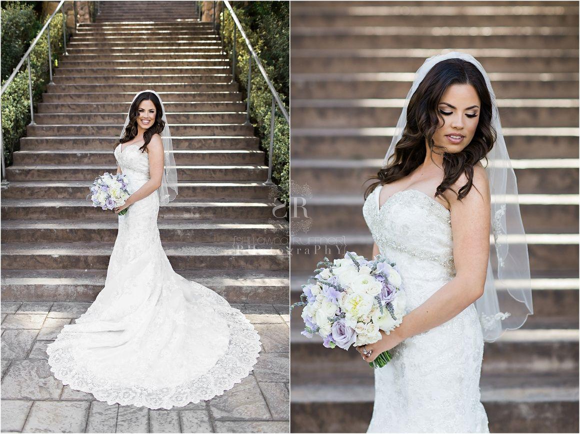 Beautiful Bride Stairs Purple Lavender Bridal Bouquet Wedding Photography Evansville Indiana Pala Mesa Resort