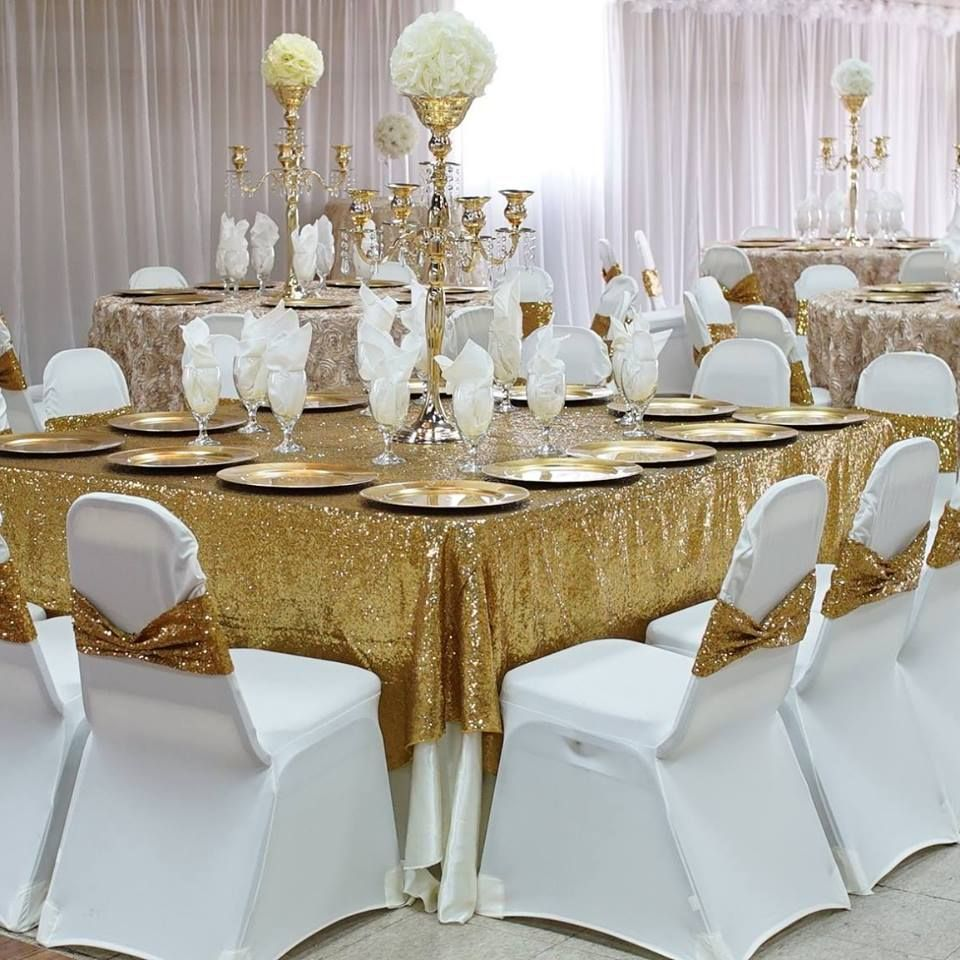 Gold Wedding Decorations: Banquet Halls In 2019