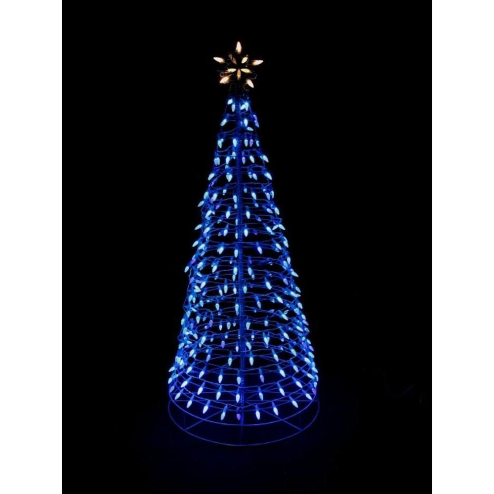 christmas outdoor 6ft lighted tree sculpture yard art lawn led lighting decor unbranded