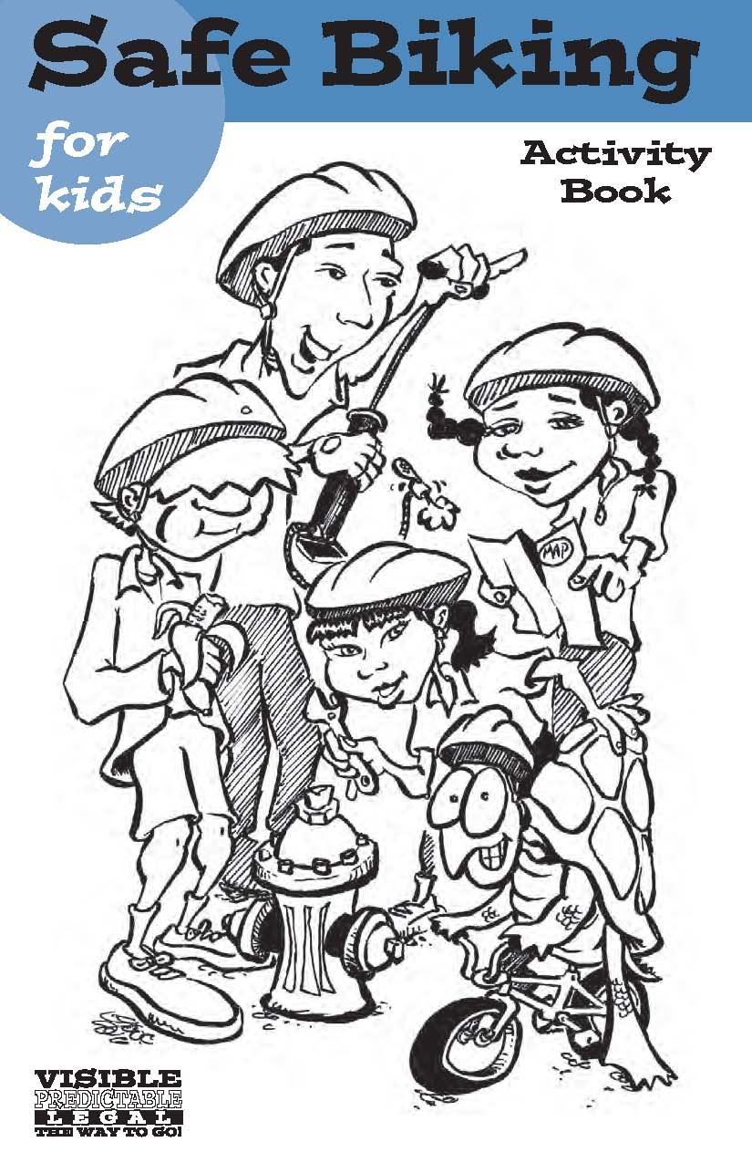 Safe biking for kids activity book, by the Oregon
