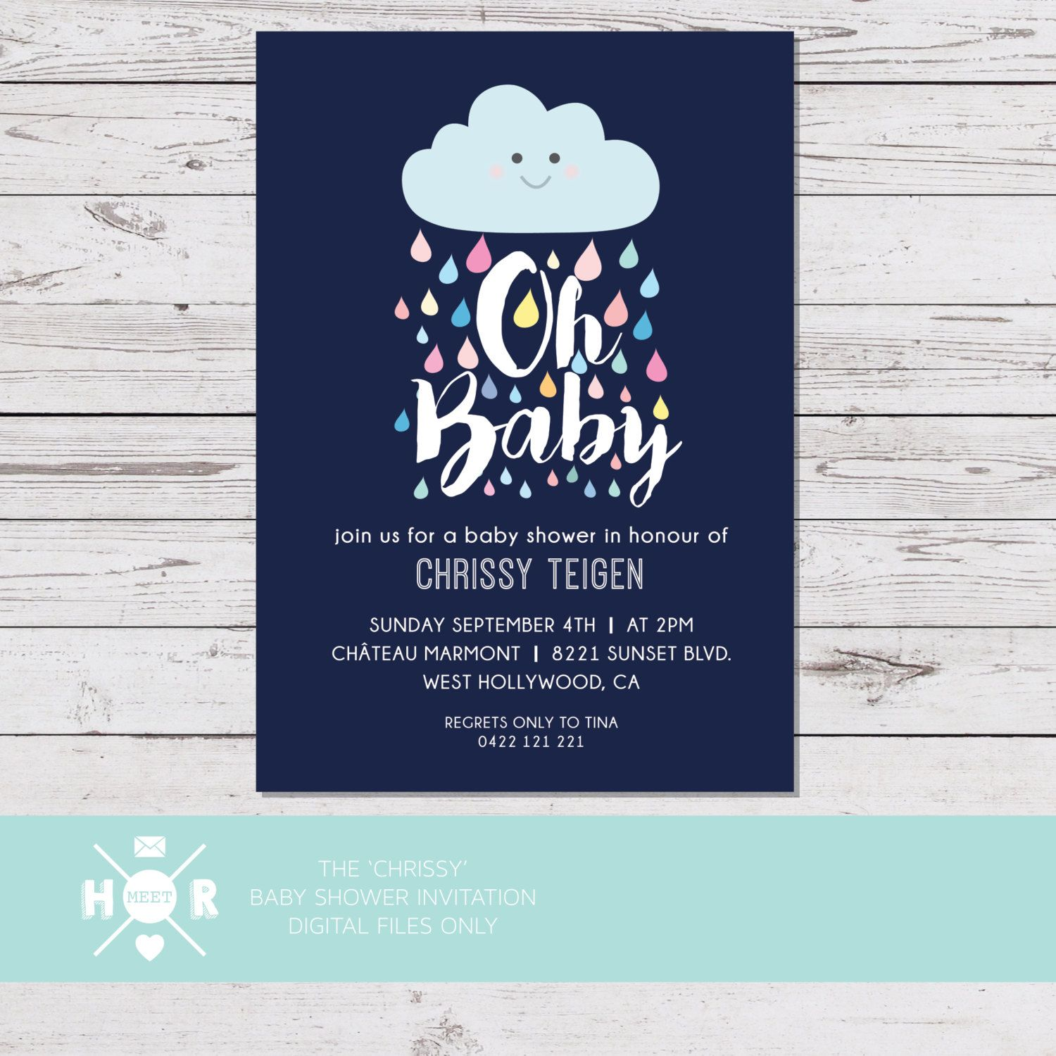 Printable - The \'Chrissy\' Baby Shower Invitation | Gender Neutral ...
