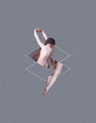 Rapporto aureo & illustrazioni concettuali digital collages Mothanna Hussein