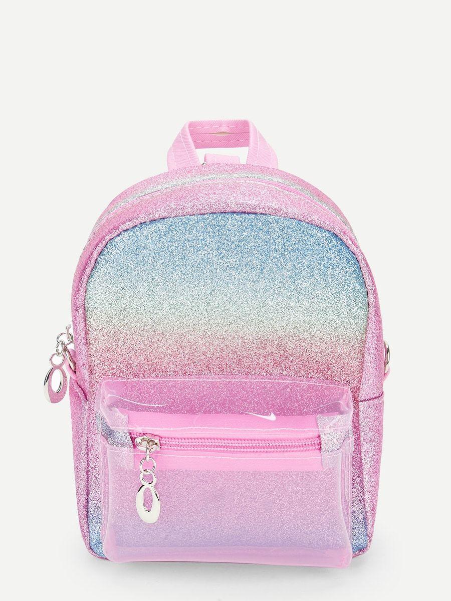 f0f203440c7 Girls Glitter Rainbow Random Color Backpack -SheIn(Sheinside) | Gia ...