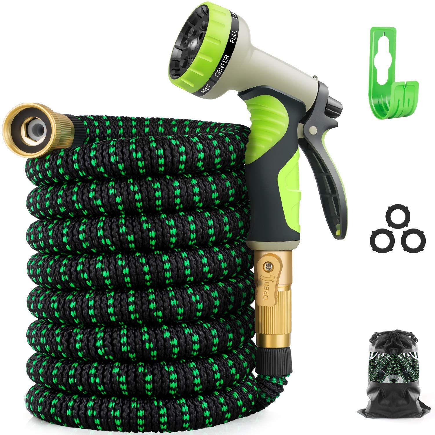 with Garden Tools Garden Hose with 9 Function Nozzle