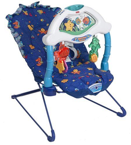 Fisher-Price Ocean Wonders Aquarium Bouncer - I don't think you can buy this one anymore, but this bouncer vibrating soother seat has been great!