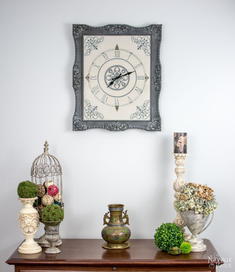 Ornate Frame To Wall Clock Upcycled Picture Frame How To Make A