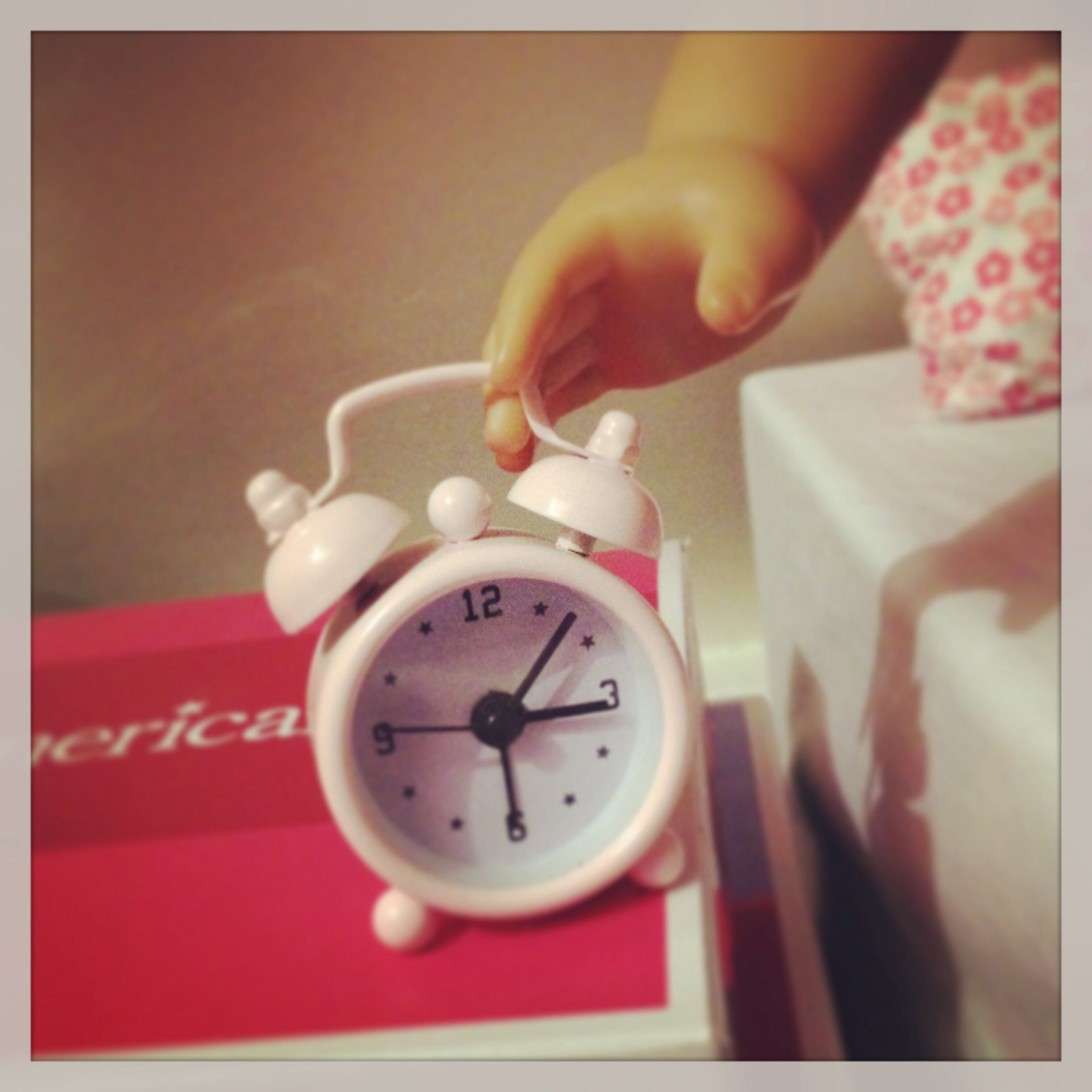 Bed Bath & Beyond has doll size alarm clocks like this one for $6