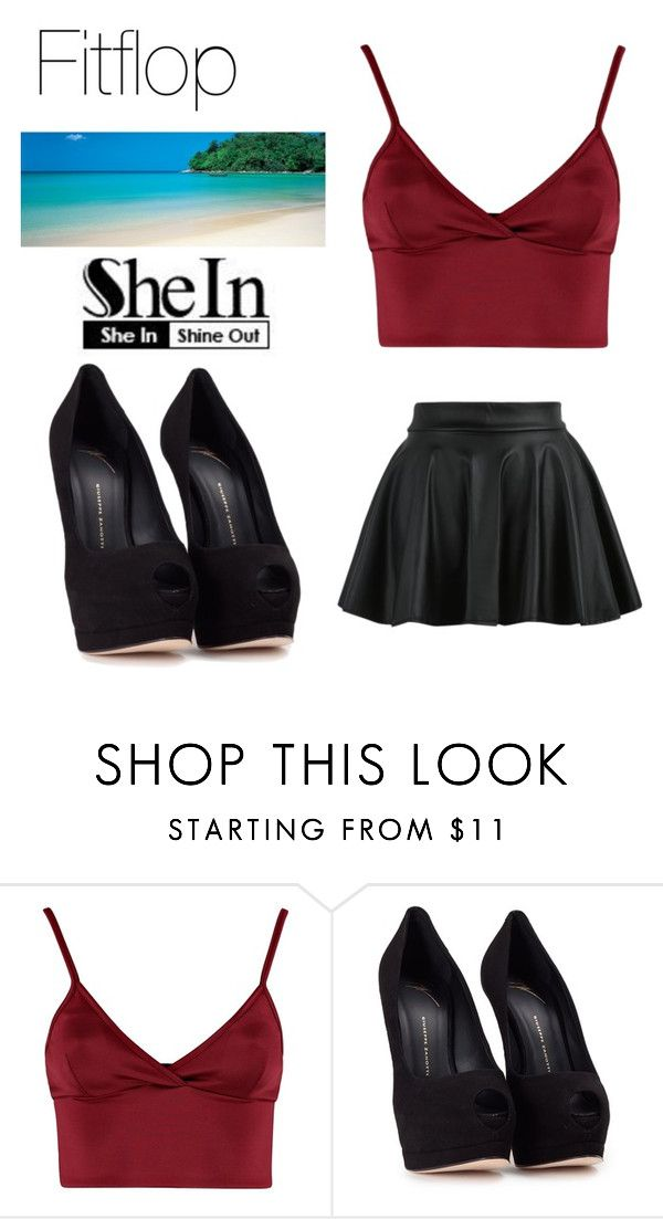 """Shein Contest"" by irmela-faic ❤ liked on Polyvore featuring Lipsy and Giuseppe Zanotti"