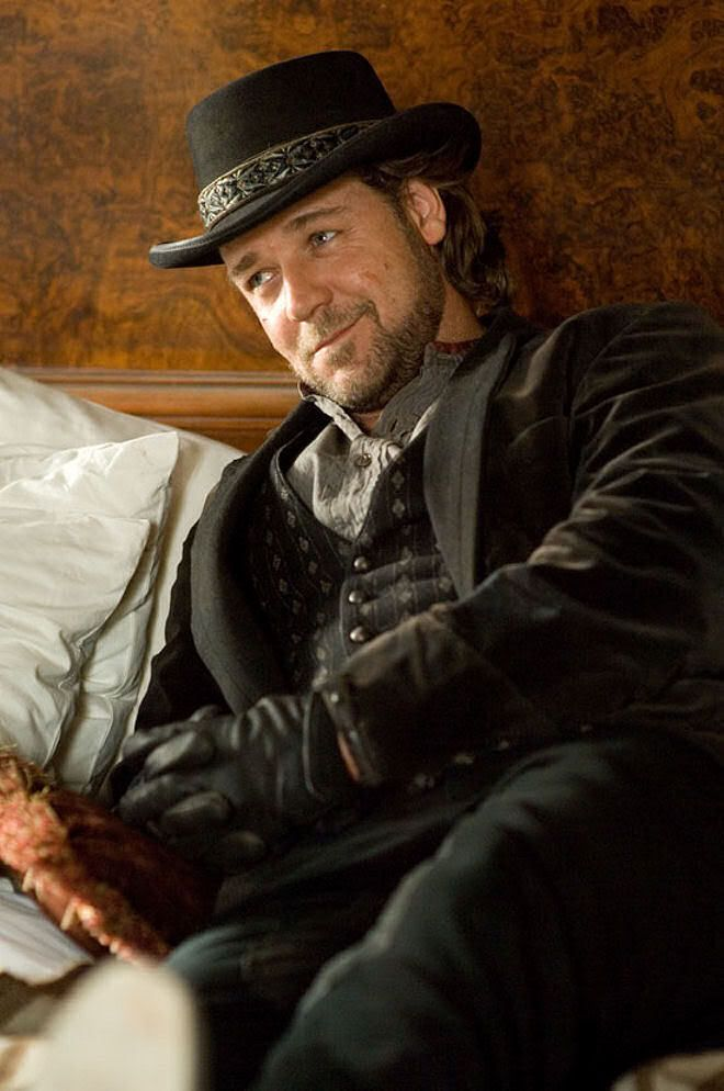 """Not the """"young"""" or the """"over muscled"""" but this is PEAK CROWE: Russell Crowe as Ben Wade in 3:10 to Yuma."""