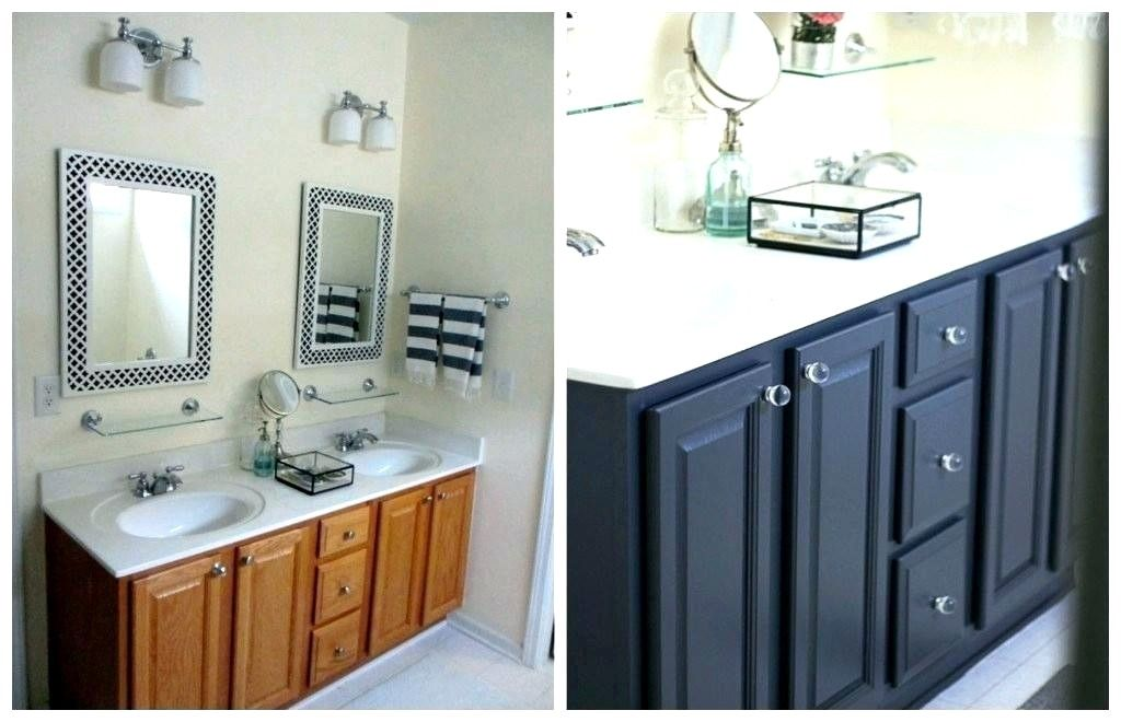 Gray Bathroom Cabinets What Color Walls In 2020 With Images Black Cabinets Bathroom Grey Bathroom Cabinets Painting Bathroom Cabinets