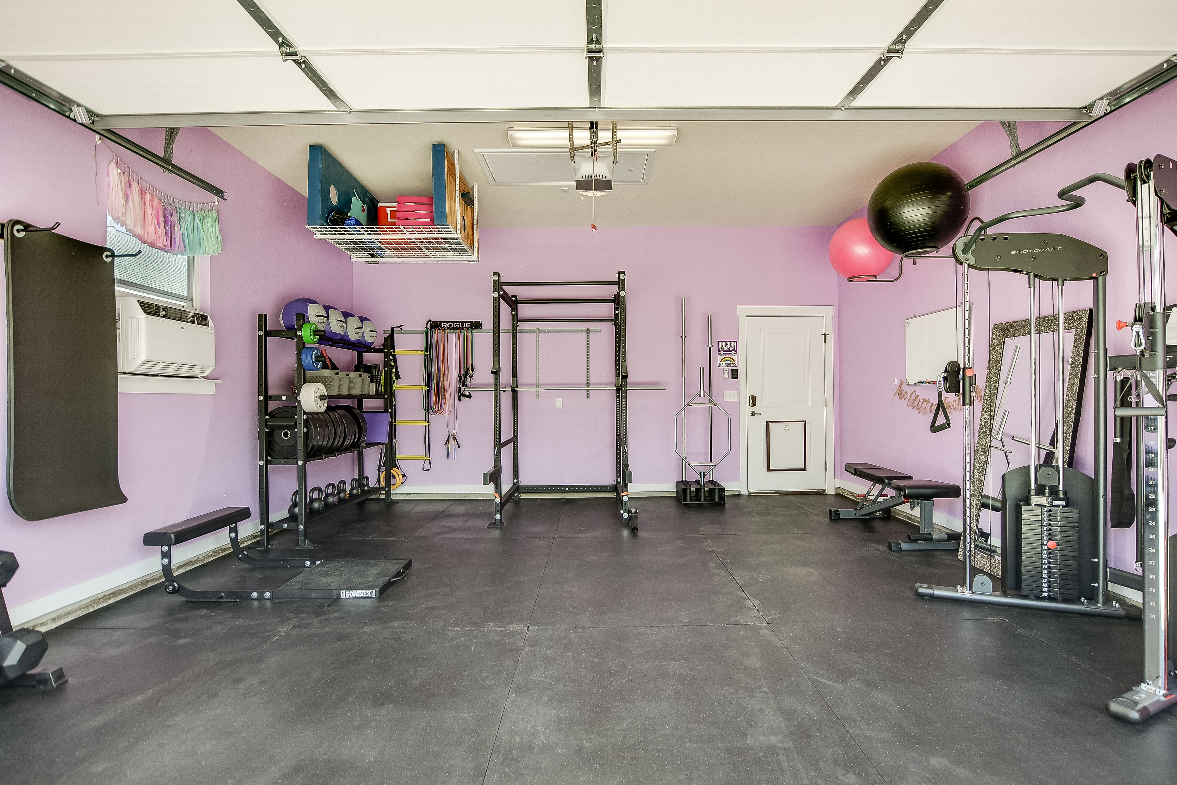 The glitter factory detached garagegym in austin texas for