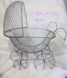 flaired opening wire baby carriage