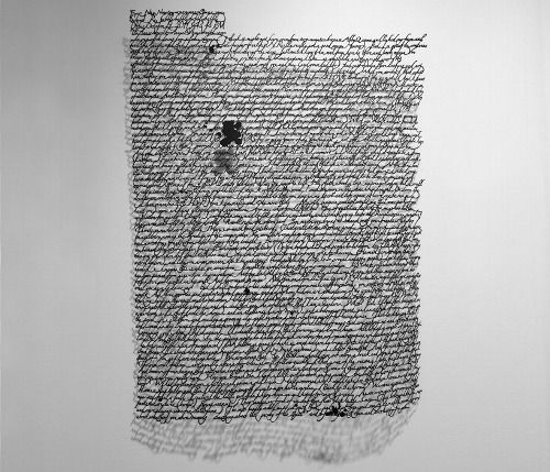Typography by Annie Vought  Annie Vought native that has handwritten and hand-cut a series based on her personal writings. It's quite amazing how her craftsmanship conjures the discipline within each negative space, surrounding every single character.