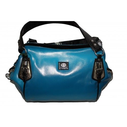 Pure Leather Women s Hand Bag (Blue)(BW007HBB)