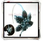 FLOWER FEATHER HEADBAND HAIR FASCINATOR ACCESSORY BOW(China (Mainland))