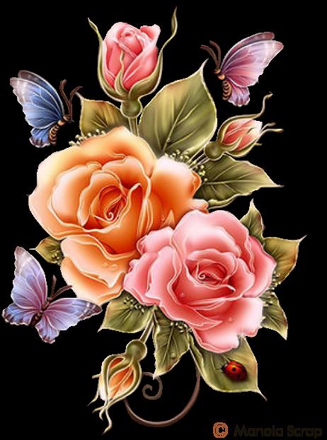 Tubes fleurs page 5 (com imagens) | Ilustrações florais, Bordas ...