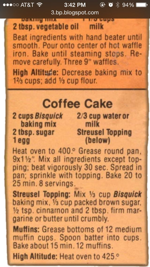 Bisquick Coffee Cake Recipe I Add 2 3 C Walnuts Or Pecans To The