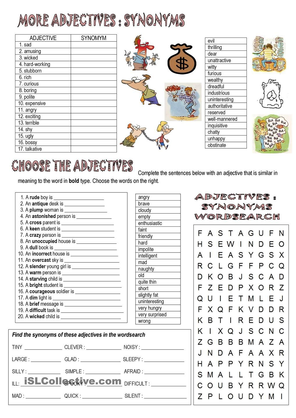 Synonyms And Opposites Esl 2 Pinterest English Vocabulary