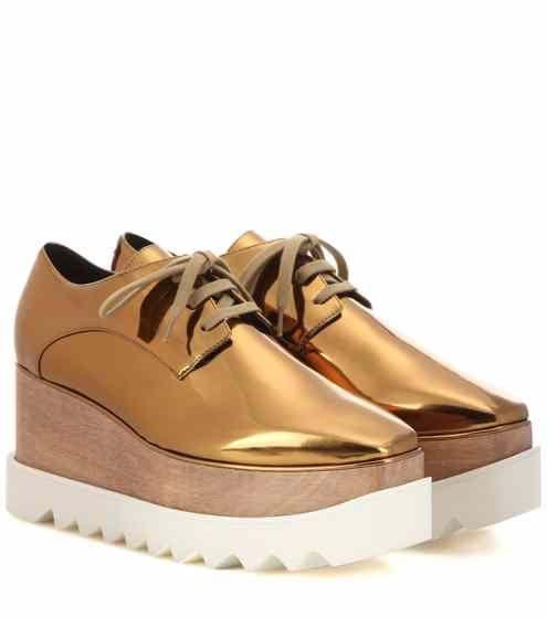 Elyse Chaussures Derby De Plate-forme Métallique Stella Mccartney RyhS9tdx