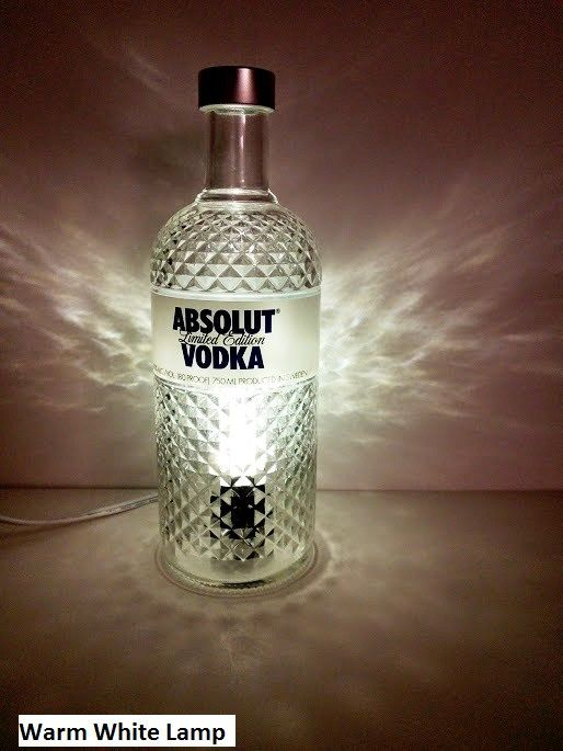 Absolut Vodka Bottle Led Lamp Made From A Limited Edition Bottle