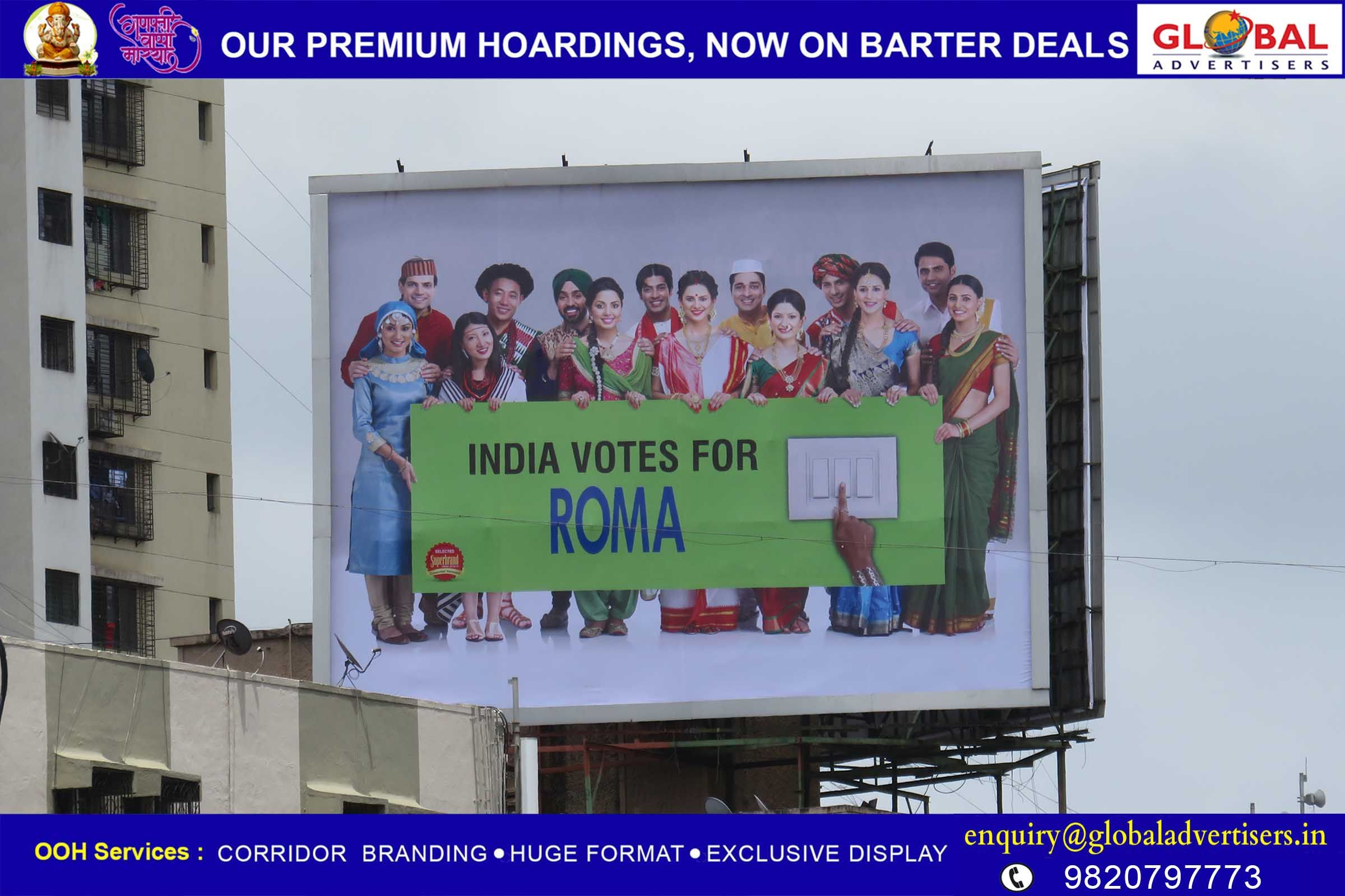Global Advertisers showcases electric switches brand-Roma on ...