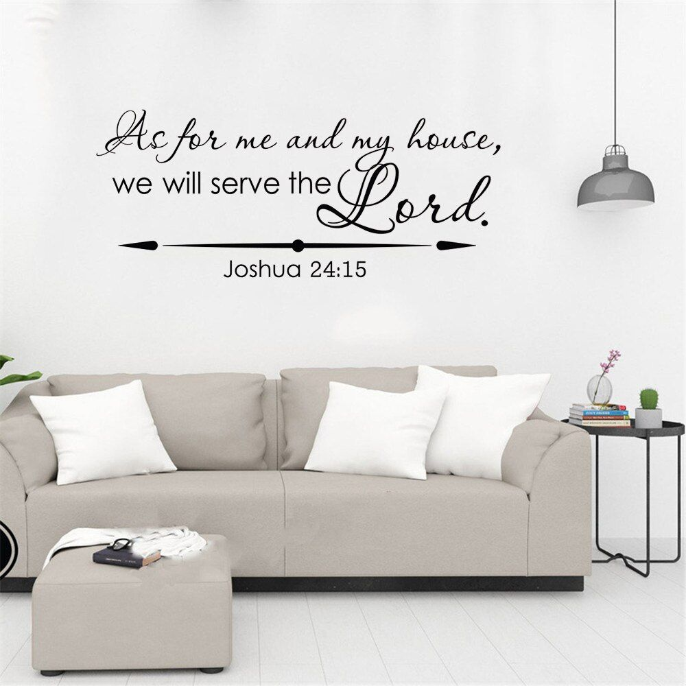 My Home 24 5.04us $ 30% Off|christian Wall Decal Joshua 24:15 As For Me And My House We Will Serve The Lord Bible Verse Wall Decal Vinyl Home Decor|wall Stickers| - Alie… | Christian Wall