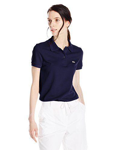 7022ffc7 Lacoste Women's Short Sleeve Pique Original Fit Polo Shirt, Varsity Blue,  32 Lacoste http