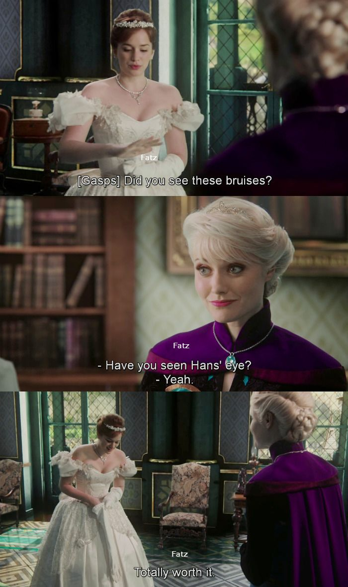 """""""Did you see these bruises?"""" Anna, """"Have you seen Han's eye?"""" Elsa - 4 * 11 """"Heroes and Villains"""""""