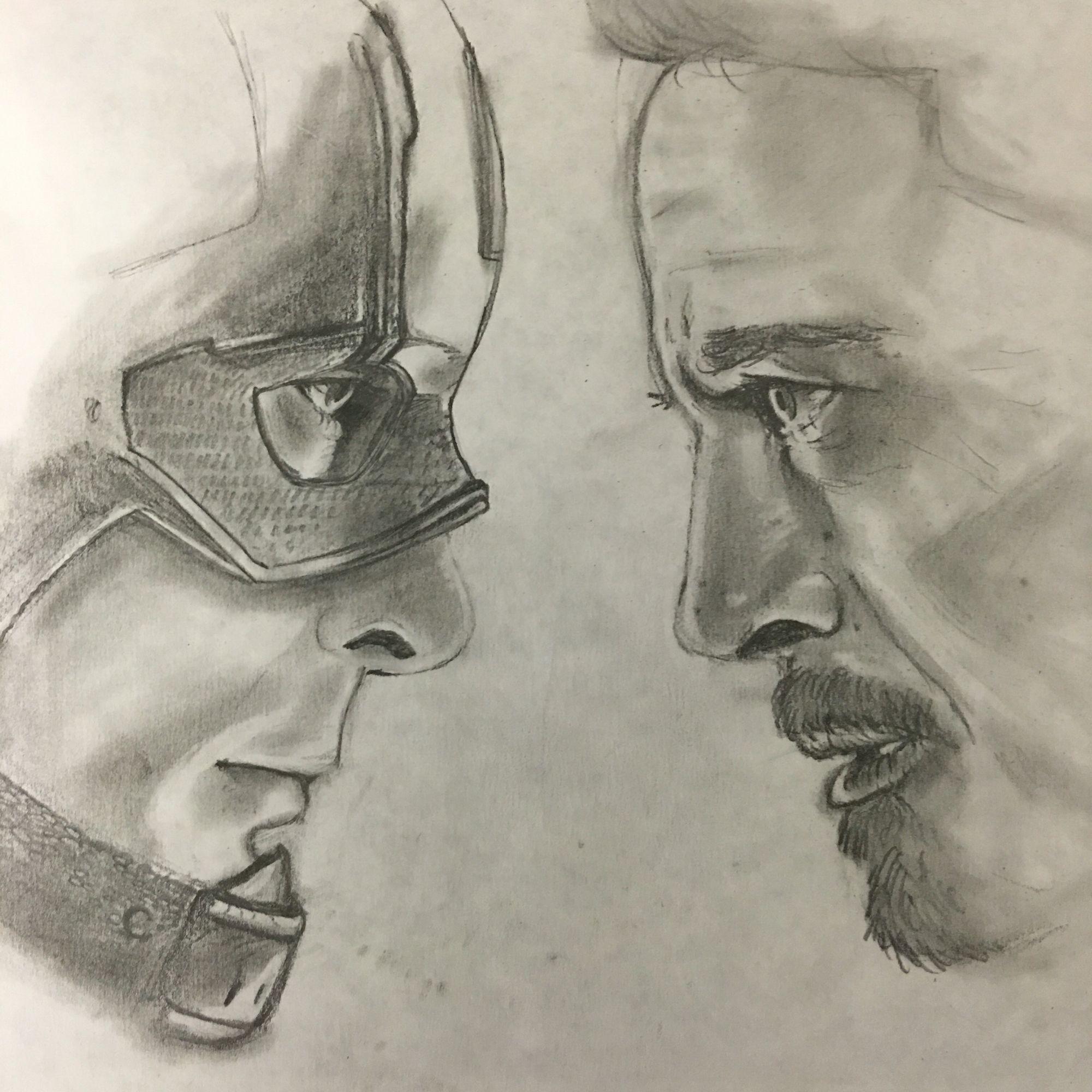 Captain America: Civil War (Tony Vs Steve) #teamcap