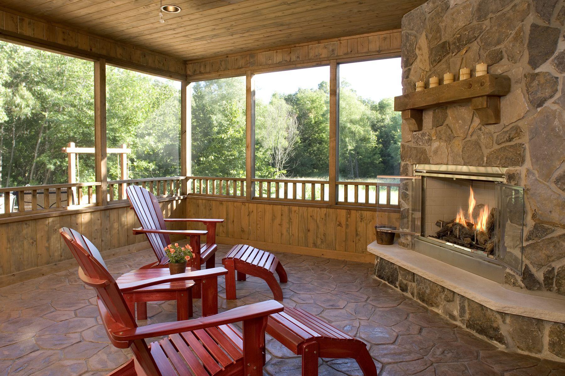 an outdoor gas fireplace | Back porch ideas | Pinterest on Outdoor Gas Fireplace For Deck id=12000