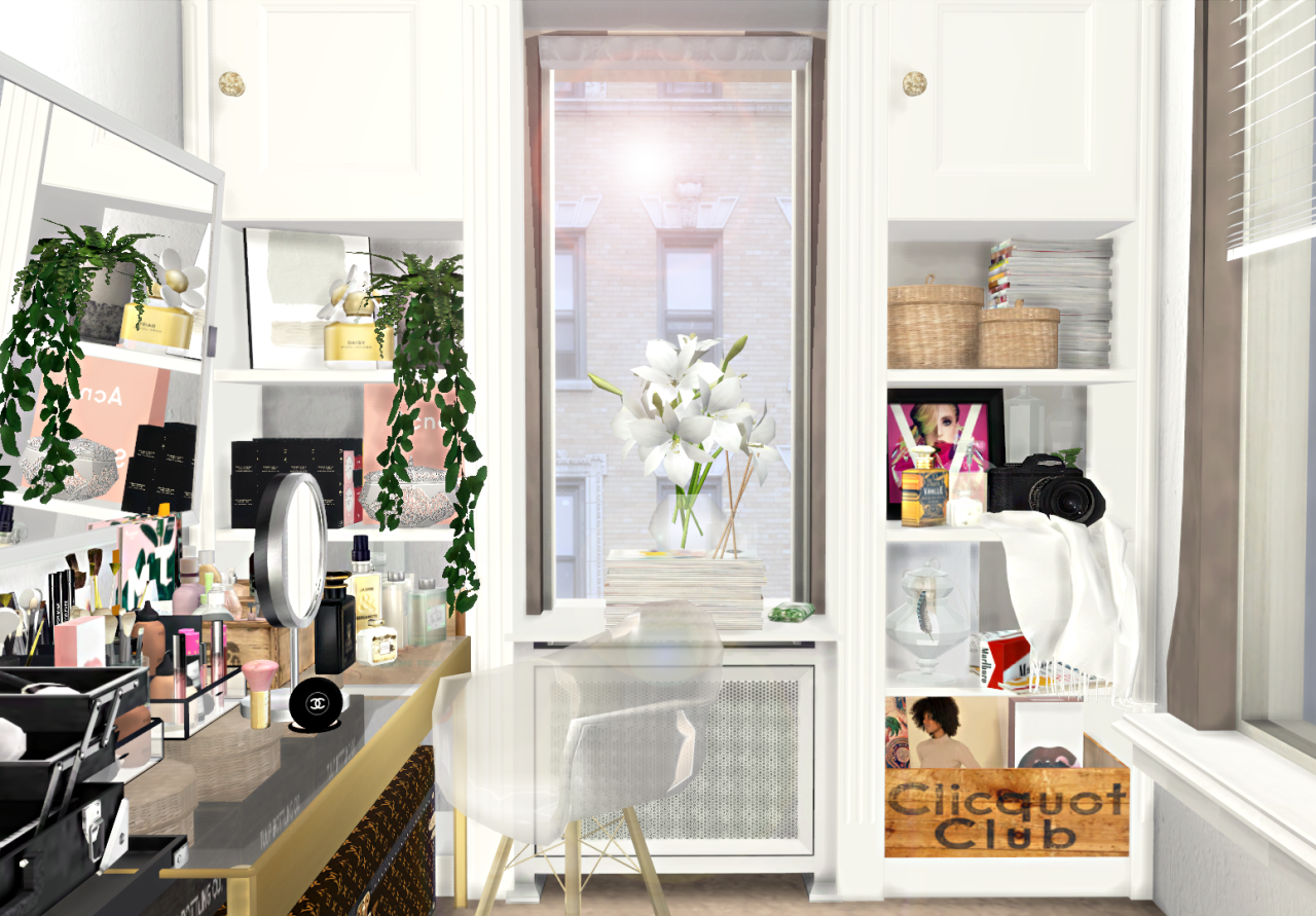 """Sam Lily closet/beauty room """"Wardrobes   bags 1, 2, 3   hanging ..."""