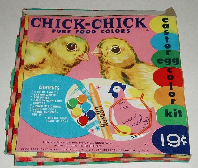 Chick Chick Easter Egg coloring kit | Easter and Vintage easter