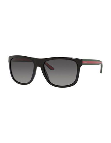656893c0c27ac GUCCI GUCCI Striped Refined Wayfarer Sunglasses.  gucci