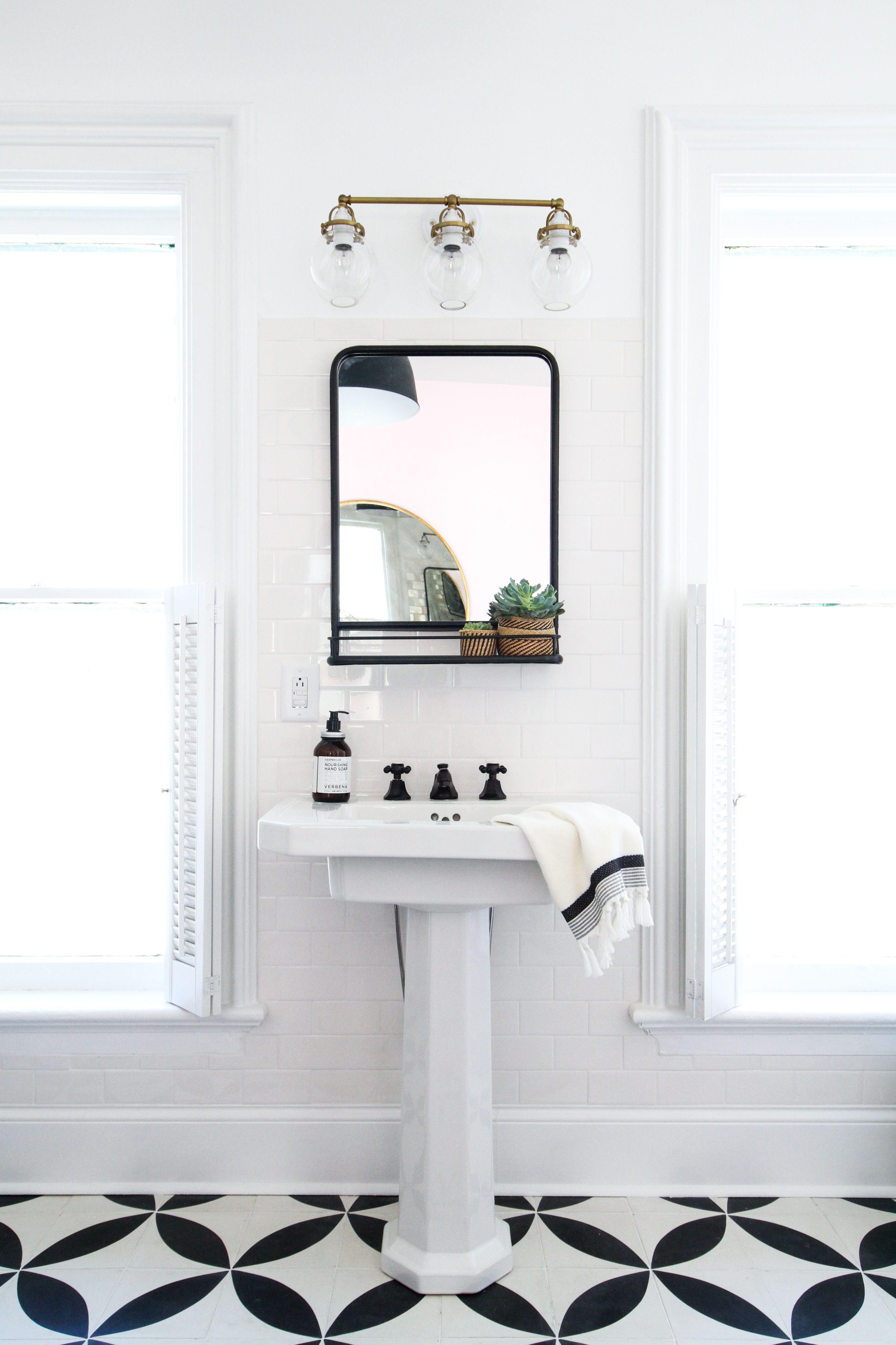 How To Hang A Bathroom Mirror On Ceramic Tile Bathroom Mirrors