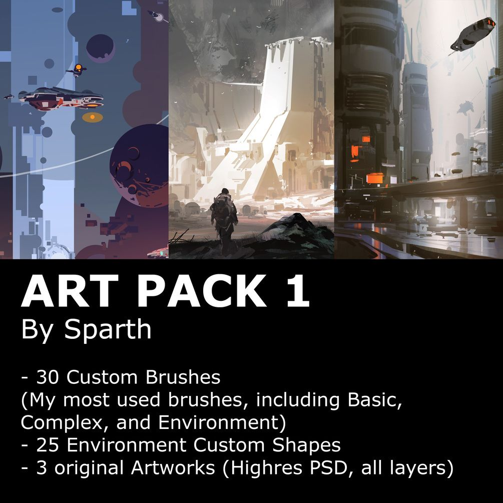 Art Pack 1 - Brushes and shapes for Photoshop in 2019 | Adobe Stuff
