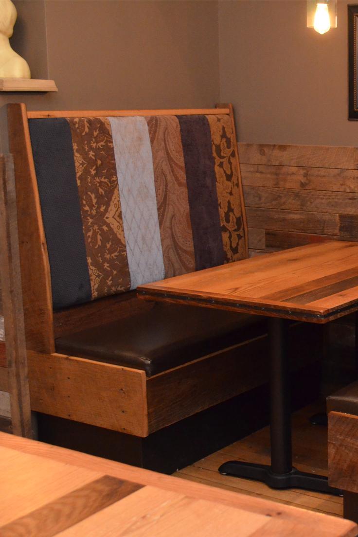 Custom Reclaimed Restaurant Booth Restaurant Furniture Restaurant Interior Restaurant Furniture Restaurant Design