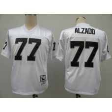 mitchell and ness raiders 77 lyle alzado white stitched throwback nfl jersey