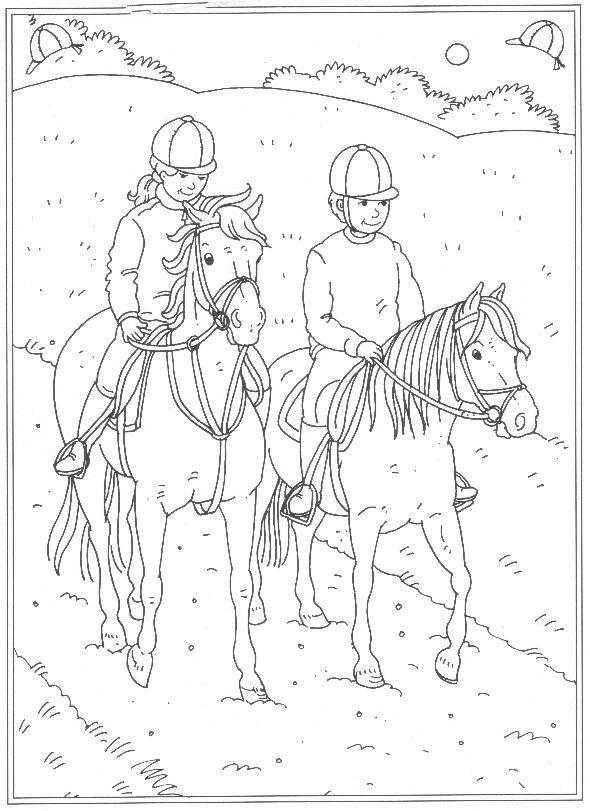 Paarden In De Stal Kleurplaten Kids N Fun 24 Kleurplaten Van Op De Manege Colorbook