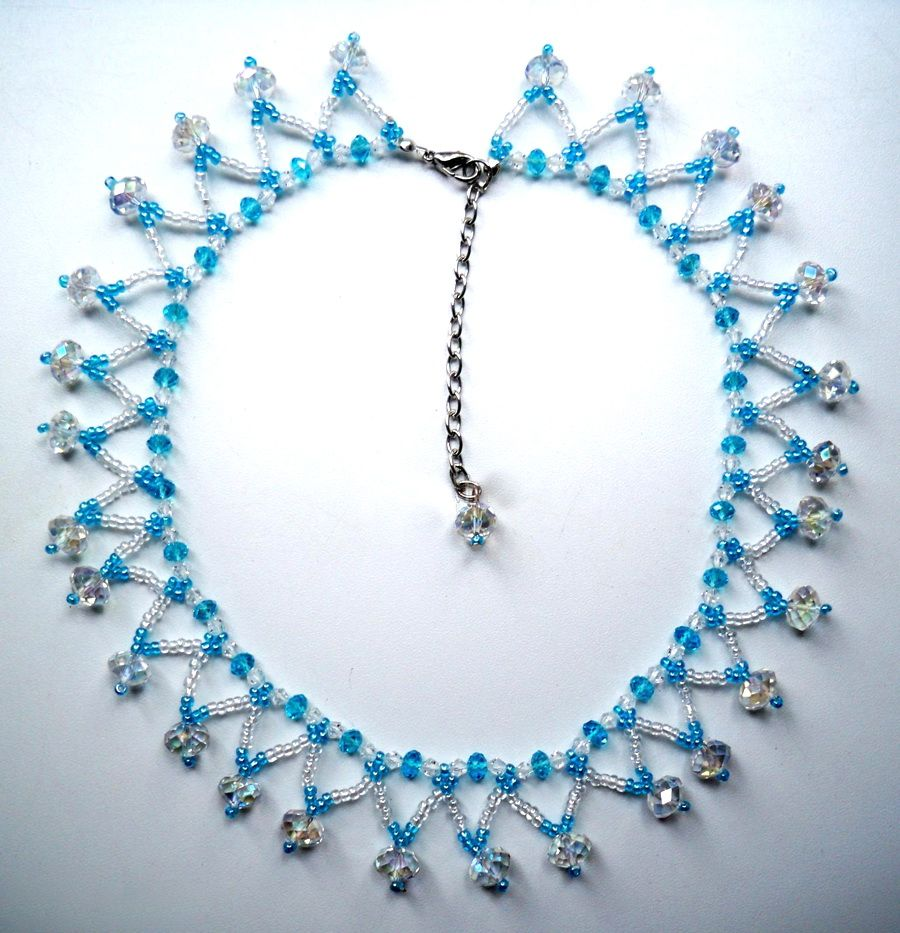 simple beaded necklace designs www imgkid the