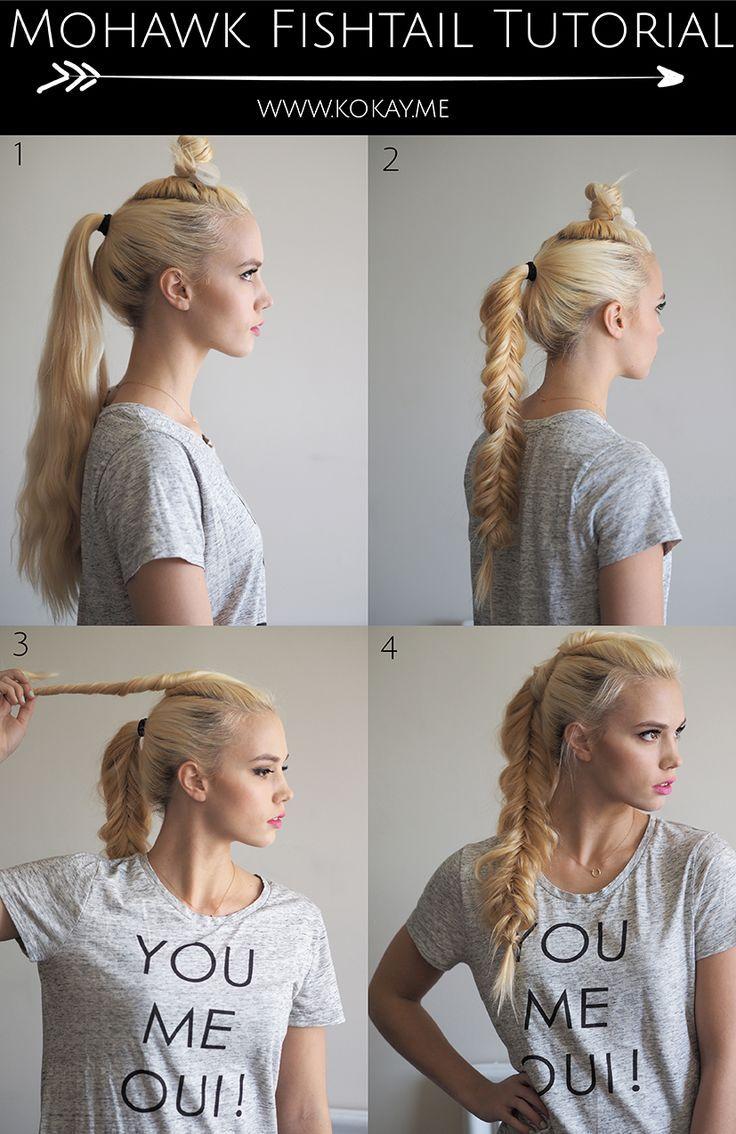 mohawk fishtail braid tutorial fishtail braid tutorials