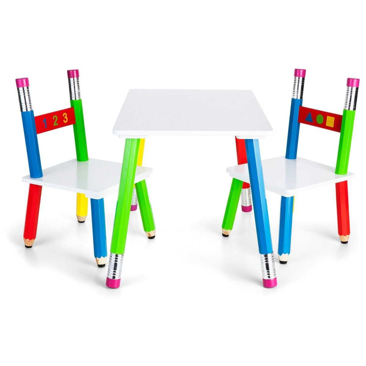 Tinkers 3 Piece Pencil Table And Chairs Chair Table And Chairs Table And Chair Sets