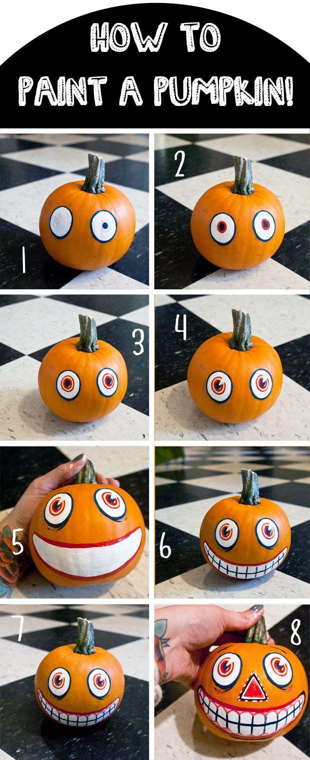 DIY Vintage Inspired Painted Pumpkin for Halloween