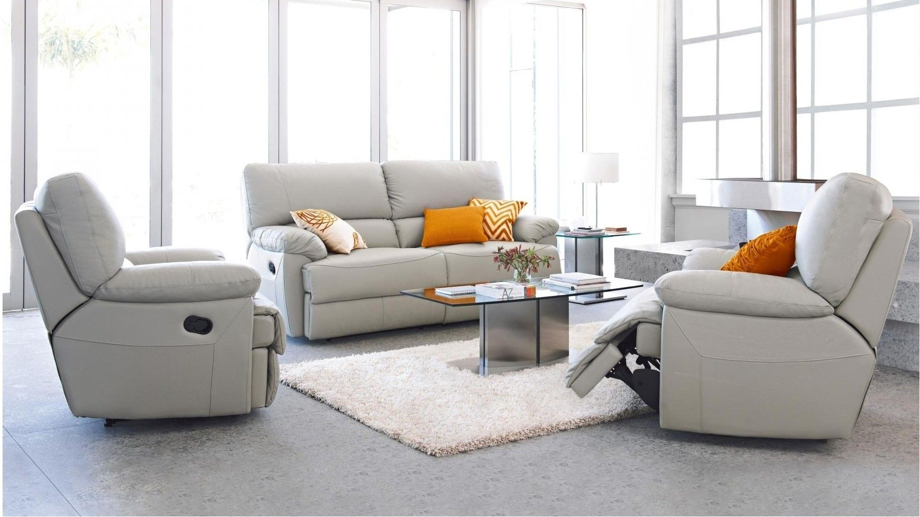 Best Delle 3 Piece Leather Recliner Lounge Suite In 2019 400 x 300