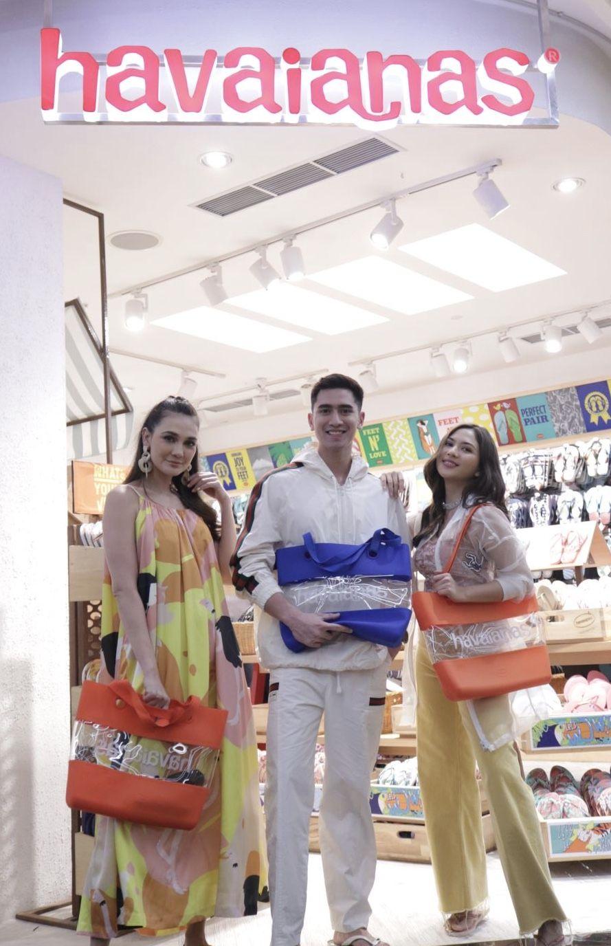 Havaianas presents their new faces Luna Maya, Verrell