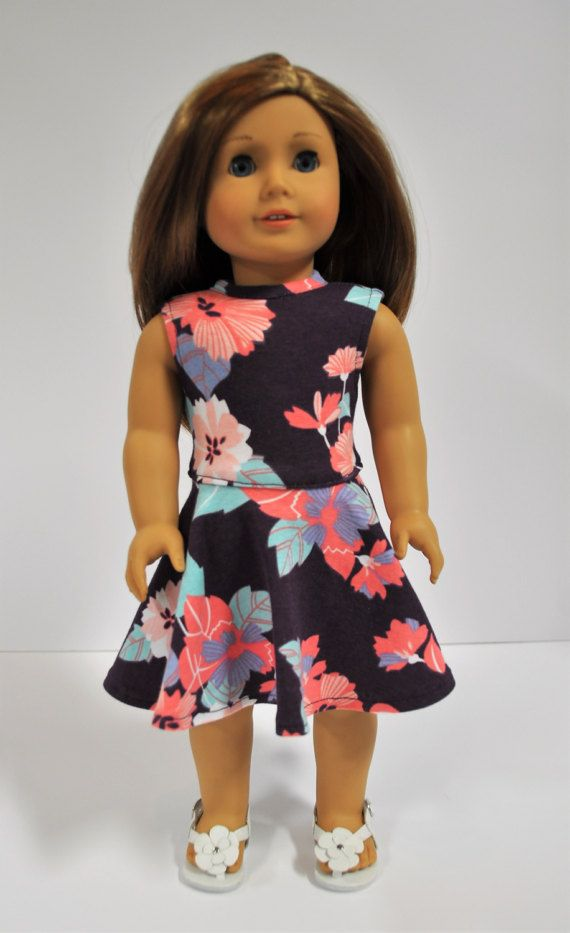 "Coral Hi-Low Hem Dress and Headband fits 18/"" Dolls Such As American Girl Doll"