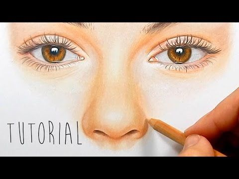 Tutorial | How to draw, color a realistic nose with colored ...